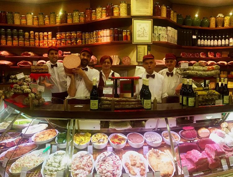 salumeria gastronomia bologna staff